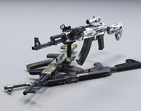 3D model AK-47M Camouflage