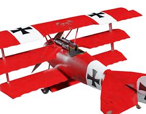 Fokker Dr I fighter 3D model