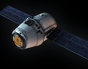 3D asset rigged SpaceX Dragon