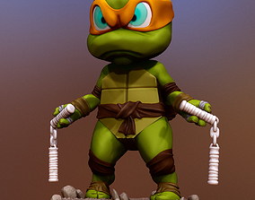 3D print model Teenage mutant ninja turtle Michelangelo