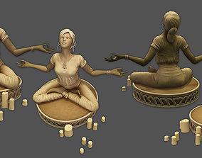 3D model yoga statue