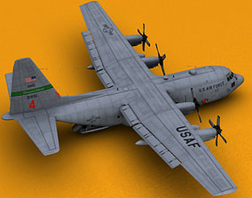 C-130 Fire Tanker 3D model