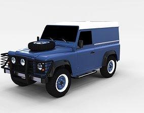 3D Land Rover Defender 90 Hard Top rev