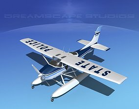 Cessna 182 Seaplane State Police 3D