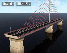 3D Single Suspended Water Road Bridge