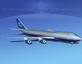 Boeing 747-100 United Airlines 3 3D model