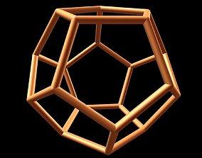 3D printable model 057 Dodecahedron 20 cm dE-9mm