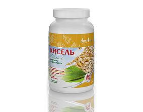 Dietary supplement plastic bottle 4 3D