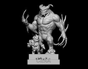 3D printable model statue Demon tibia - fanart