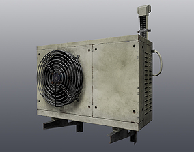 3D asset realtime Old air conditioning condenser unit