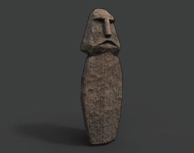 Slavic Wooden Medieval Settlement Totem Statue 3D asset
