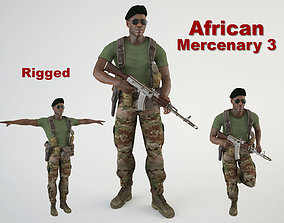 3D model African Mercenary 3