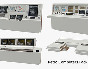 Retro Computers Pack 04 3D asset