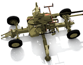 Bofors 40 mm AA Gun 3D model