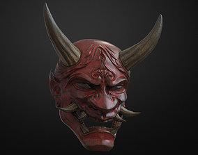 3D printable model Traditional Japanese Hannya Mask Oni 3
