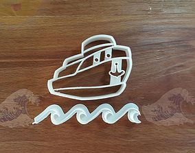 3D printable model Happy boat in waves