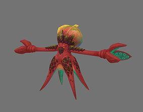 Fantasy octopus 3D asset