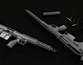 Desert Tech SRS-A2 Bullpup Sniper Rifle 3D model
