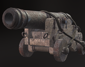 Cannon 01 3D asset game-ready