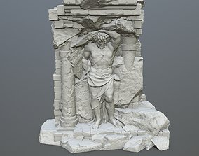 statue 3 3D print model stone