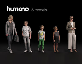 Humano 5-Pack - PEOPLE - DIVERSE - STREET - 5x 3