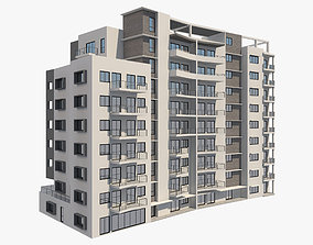 3D Apartment Building 7