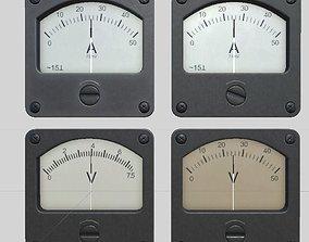 3D model ammeter and voltmeter