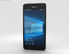 2g Microsoft Lumia 650 Black 3D model