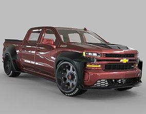 3D Chevrolet Silverado Modified