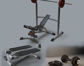 Powerlifting set 3D