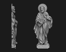 3D printable model Saint Peter Bas-Relief