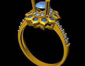 DiamondRing 18K WhiteGold Outstanding 3D printable model