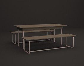 exterior picnic table 3D