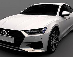 3D model rigged Audi A7 Sportback 2018
