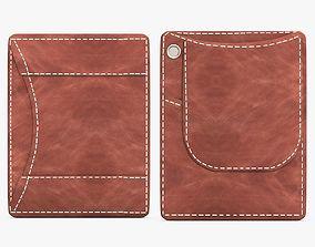 3D model Brown Leather Wallet