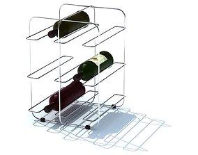 Modern Simplistic Wine Rack 3D model