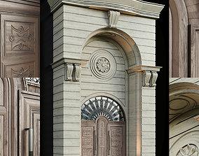 Luxury Entrance Portal - Facade and Door 3D