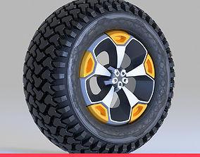 Offroad Tire Wheel Design Rim2 3D asset low-poly