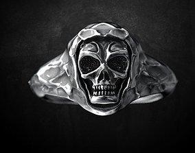 Ring for skull for bikers 3D printable model