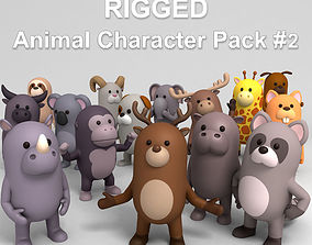 3D Rigged Animal Character Pack 2