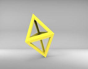 Empty tetrahedron 3D printable model