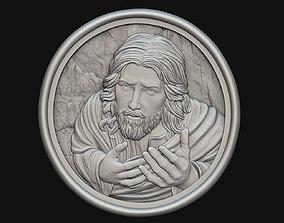 Jesus Praying Medallion PROMO PRICE 3D print model