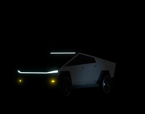 Tesla Cybertruck 3D asset game-ready