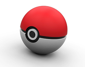 Pokeball - lowpoly 3D print model