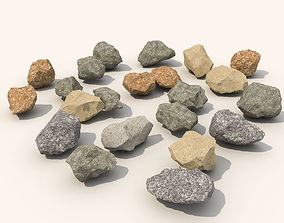 3D model ground Stone and debris pack