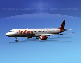 Airbus A321 Indian Air 3D model