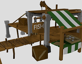 Fishing House Low Poly 3D model
