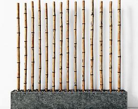 3D model Bamboo decor concrete fundament