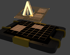 3D asset hologram sci fi