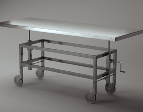 Mortuary table 3D
